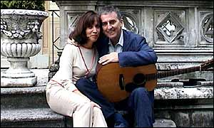 George Harrison with wife Olivia