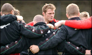 Dafydd Jones during Wales training