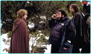 Peter Jackson on set on the Lord of the Rings