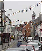 Cardigan town centre