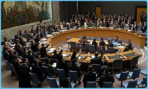 The United Nations' Security Council meets to discuss Iraq
