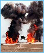 Iraqi weapons being destroyed in 1998