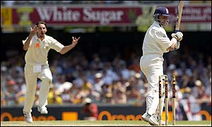 Jason Gillespie took two wickets for Australia