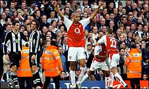 Arsenal striker Thierry Henry