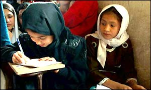 girls at an afghan school