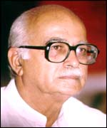 The Indian Deputy Prime Minister L K Advani