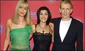 Marli Buck with Cat Deeley and Patrick Kielty