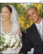 Jennifer Lopez with second husband Cris Judd