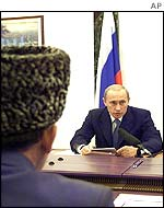 Pro-Moscow Chechens meeting President Putin