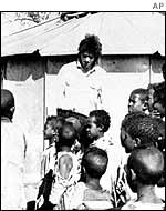 Bob Geldof in Ethiopia in 1985