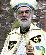 Rowan Williams in all his finery