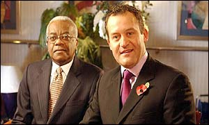 Paul Burrell with Sir Trevor MacDonald