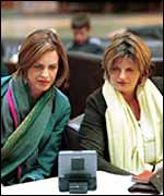 Fashion harridans Trinny Woodall and Susannah Constantine of the BBC's What Not to Wear