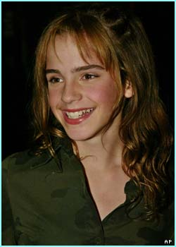 A big smile from Harry Potter heroine, Hermione, played by Emma Watson