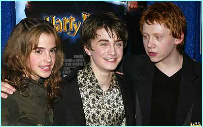 Potter pals: Emma, Daniel and Rupert arrive for the American premiere of the Chamber of Secrets