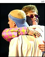 Eminem with Elton John in 2001