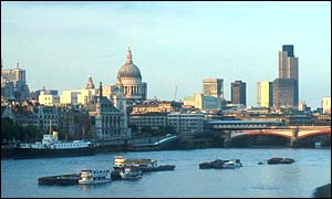 View of the City of London