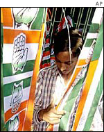Congress party scarves