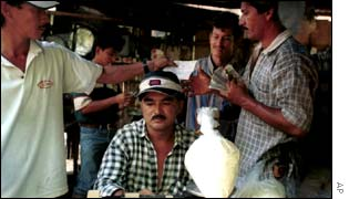 A cocaine market in Colombia
