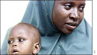 Amina Lawal and child Wasila