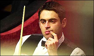 Ronnie O'Sullivan in pensive mood