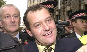 Former butler Paul Burrell leaves outside court after the collapse of his Old Bailey trial