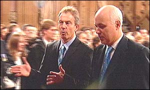 Prime Minister Tony Blair and Tory leader Iain Duncan Smith