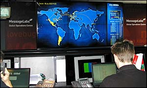 MessageLabs global operation room, BBC