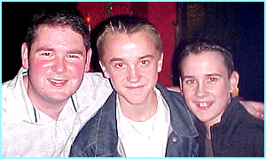 Potter pals: Darren Shan meets famous fans Tom Felton and Matthew Lewis (Draco and Neville in Harry Potter)