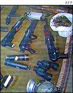 Some of weapons seized