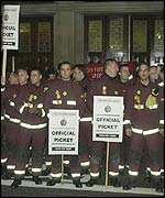 Picket line at Lambeth, south London