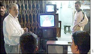 Iraq state television broadcast news of the decision