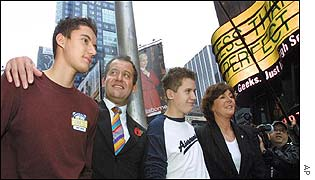 Paul Burrell and family in Times Square