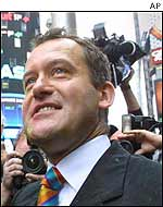 Paul Burrell in Times Square