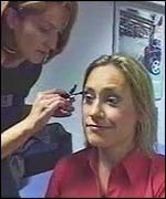Sophie Raworth and makeup artist