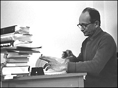 Adolf Eichmann in his cell
