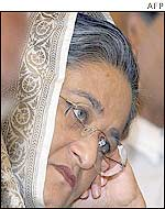 Sheikh Hasina at a party rally