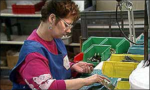 A female manufacturing worker