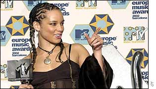 Alicia Keys at the MTV Europe Music Awards