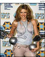 Kylie Minogue at the MTV Europe Music Awards