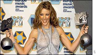 Kylie Minogue went home with two gongs