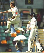 Andy Bichel dismisses Andy Caddick