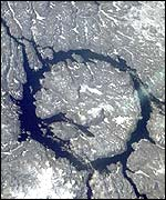 The Manicouagan crater (Nasa)