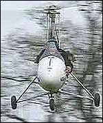 minicopter in flight