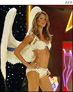 Gisele Bunchen modelling Victoria's Secret clothes