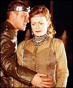Sean Bean and Samantha Bond