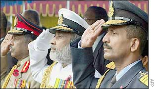 Sri Lankan armed forces chiefs salute their war dead