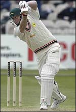 Vince Wells plays a cover drive