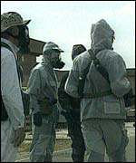 Inspectors at work in Iraq in 1998