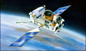 The Nasa satellite (Artists impression) Compton Gamma Ray Observatory